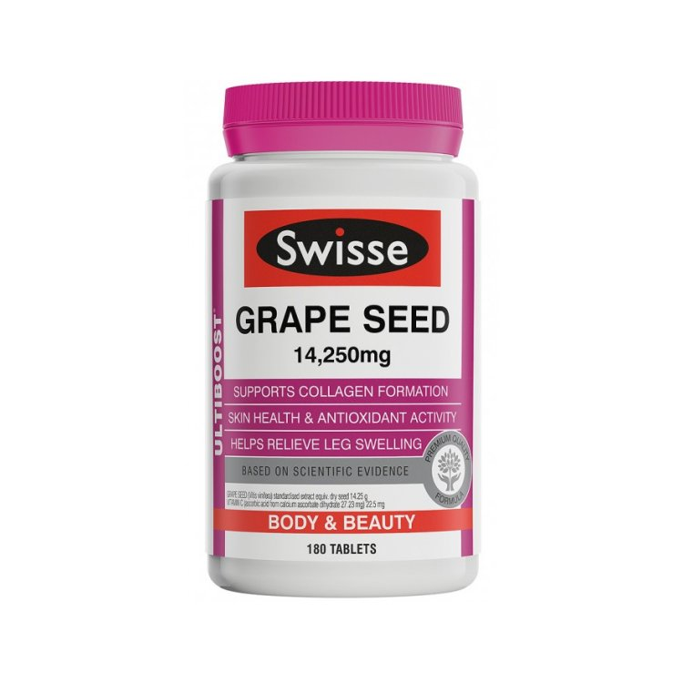 Swisse Grape Seed 14,250mg 180 Tablets