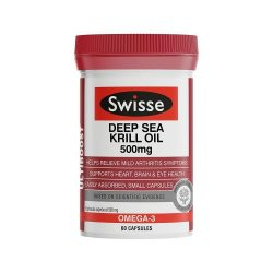 Swisse Ultiboost Deep Sea Krill Oil 500mg 60 Capsules