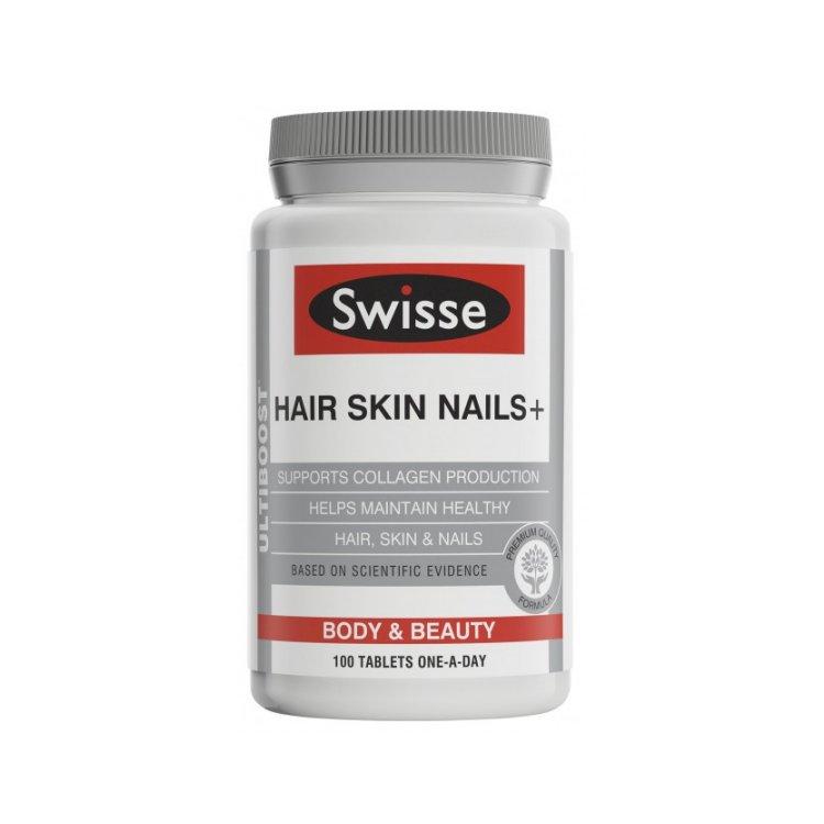 Swisse Ultiboost Hair Skin Nails+ 100 Tablets