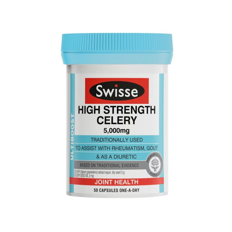 Swisse Ultiboost High Strength Celery 5000mg 50 Capsules