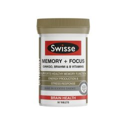 Swisse Ultiboost Memory + Focus 50 Tablets