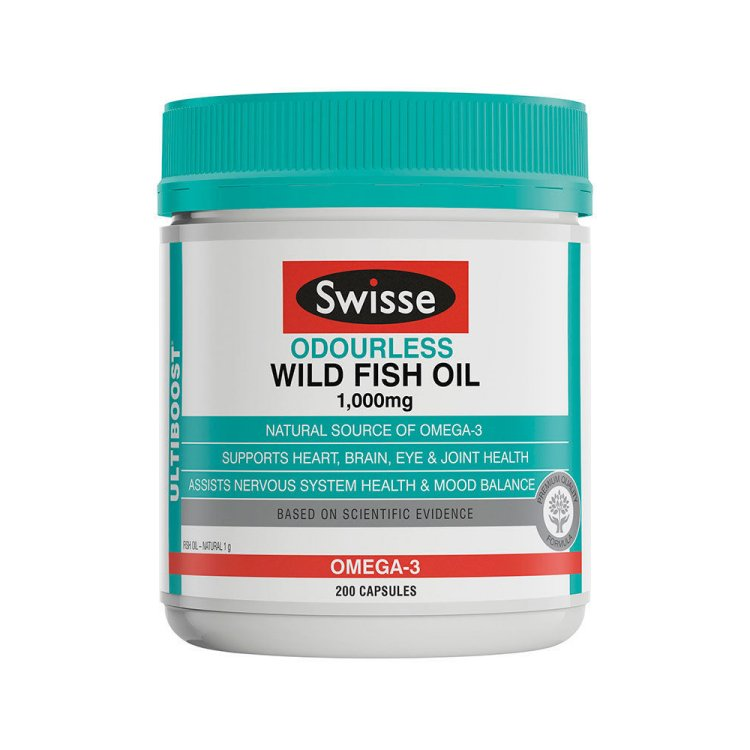 Swisse Ultiboost Odourless Wild Fish Oil 1000mg 200 capsules