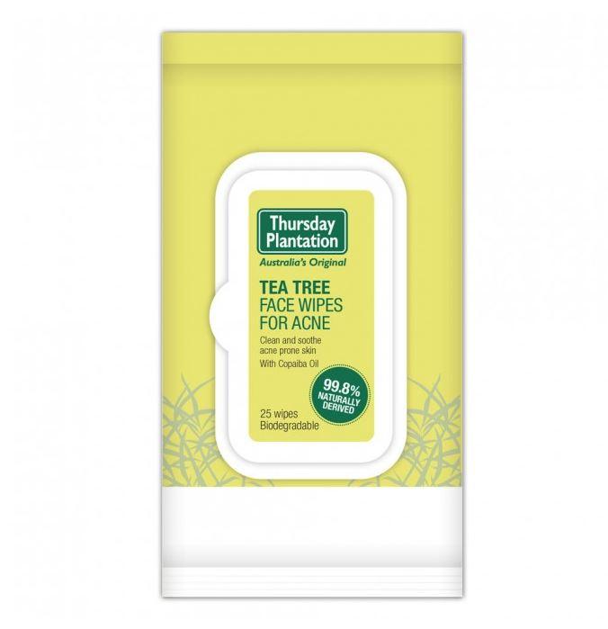 Thursday Plantation Tea Tree Face Wipes for Acne 25