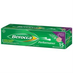 Berocca Energy Vitamin Raspberry Blackcurrant Effervescent Tablets 15 pack