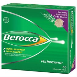 Berocca Energy Vitamin Raspberry Blackcurrant Effervescent Tablets 60 pack