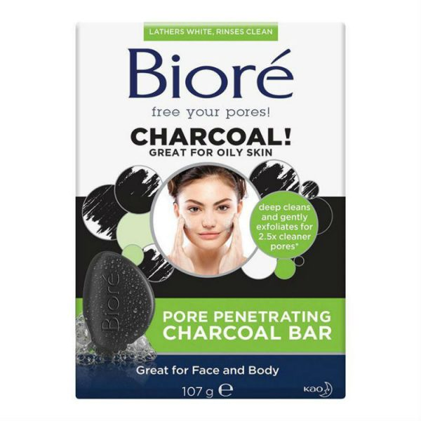 Biore Charcoal Pore Penetrating Bar 107g