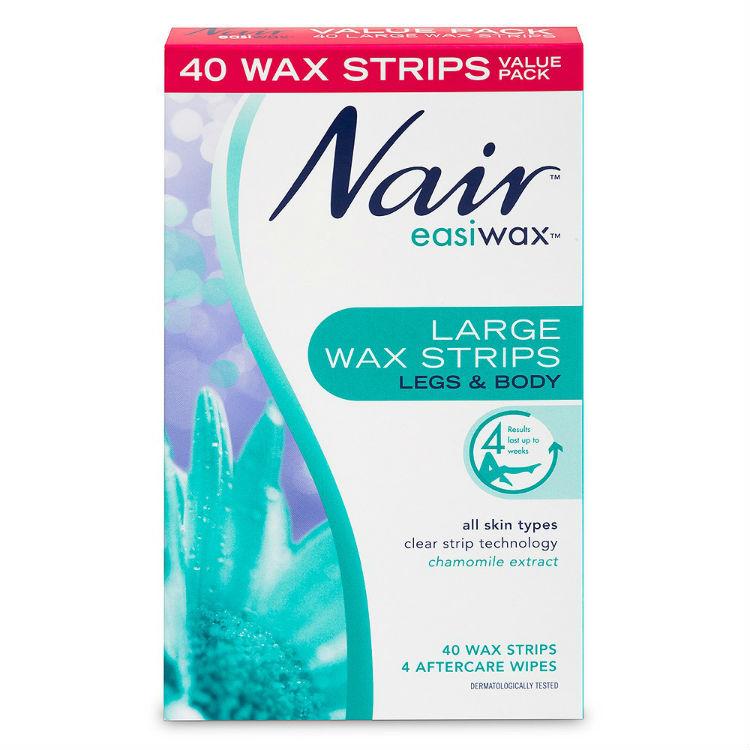 Nair Easiwax Wax Strips 40 Large