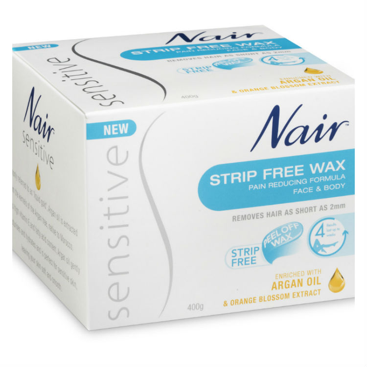 Nair Sensitive Face & Body Strip Free Wax 400g