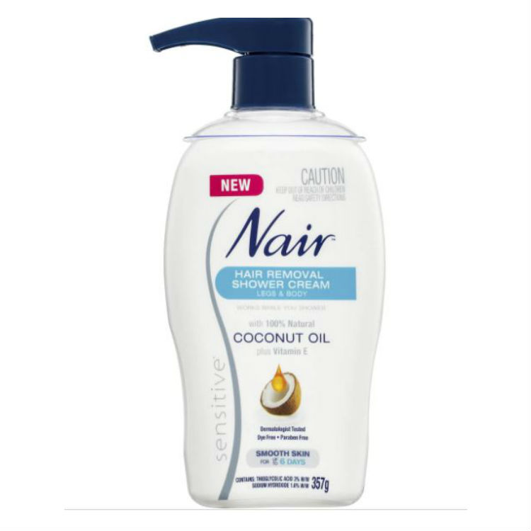 Nair Sensitive Hair Removal Shower Cream With Coconut Oil 357g –