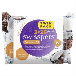 Swisspers Coconut Oil Facial Wipes 2 x 25 Pack