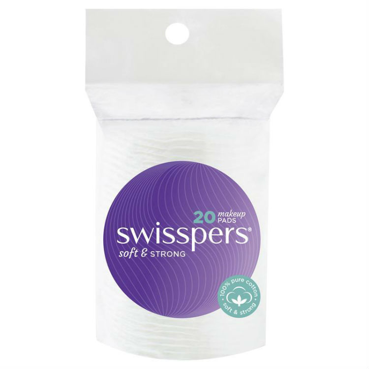 Swisspers Cotton Make Up Pads 20 Pack