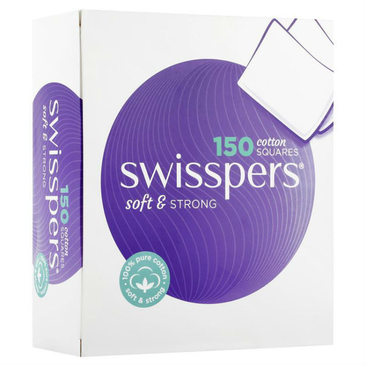 Swisspers Cotton Square Pads 150