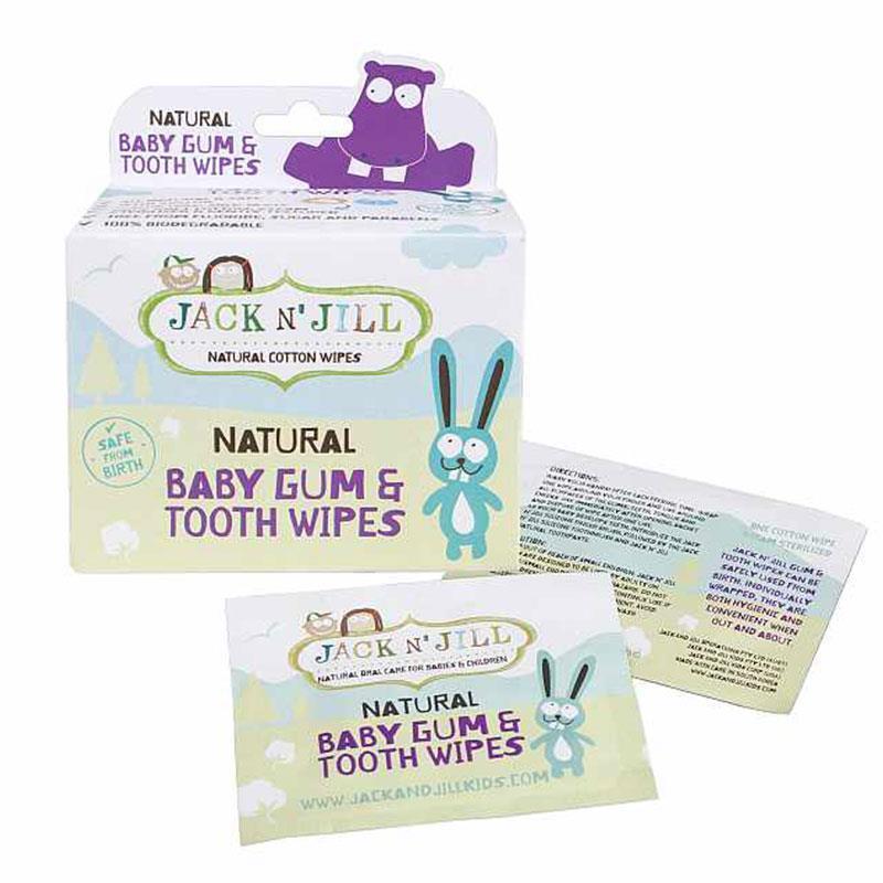 Jack N'Jill 杰克婴儿牙龈牙齿清洁纯棉湿巾洁牙布 25片 – Baojian 保健,美妆和个人护理商品