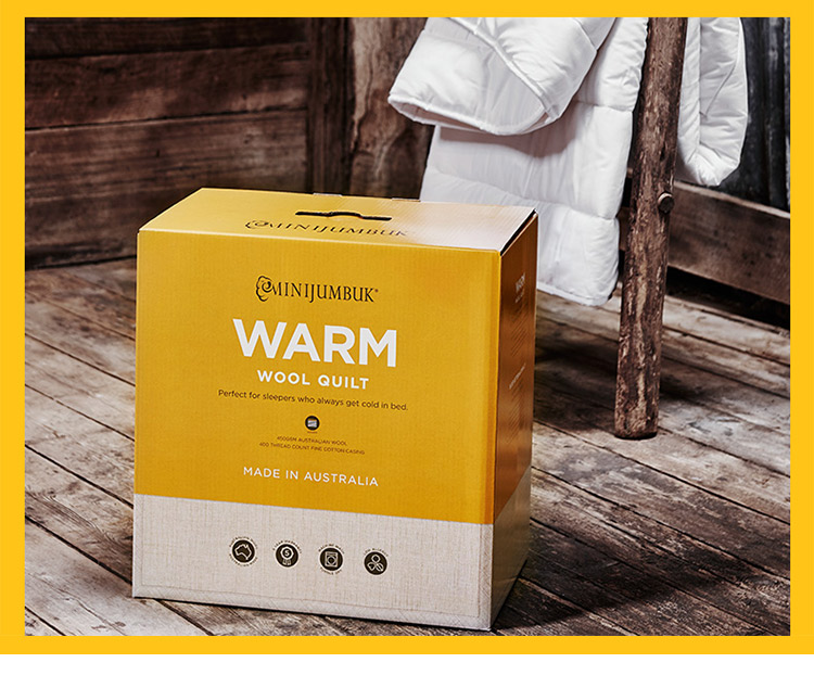 澳洲直邮 Minijumbuk Warm 厚款羊毛被 单人140cm x210cm – Fujian Health & Beauty