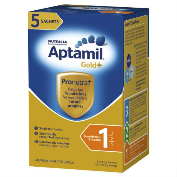 Aptamil Gold Pronutra Infant Sachet 5x21g – Jonathan Health and Beauty Deals
