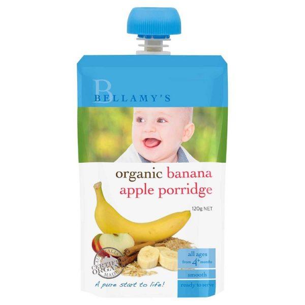 Bellamy's Organic Banana Apple Porridge 120g – Jonathan Health and Beauty Deals