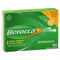 Berocca Energy Vitamin Mango & Orange Effervescent Tablets 45 pack – Health and Beauty ...