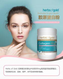Herbs of Gold 和丽康天然骨胶原蛋白粉 莓子味美肌护肤 180克 – Sichuan 保健,美妆和个人护理商品
