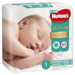 Huggies Ultimate Nappies Size 1 Newborn-5kg Bulk 54 Pack – Jonathan Health and Beauty Deals