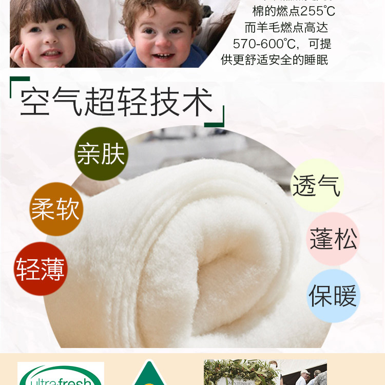 澳洲直邮 Minijumbuk Thermal 超厚羊毛被 皇后210cm x 210cm – China Health & Beauty