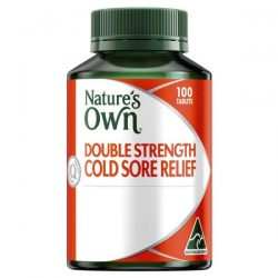 Nature's Own Double Strength Cold Sore Relief L-Lysine 1000mg 100 Tablets – World He ...