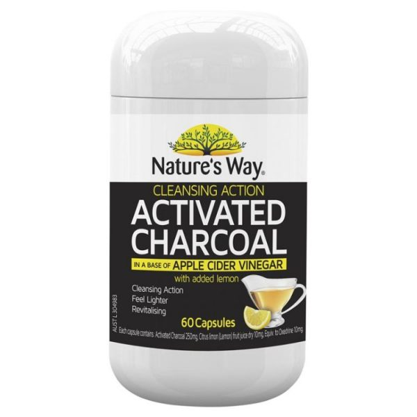 Nature's Way Activated Cleansing Charcoal + Apple Cider Vinegar 60 Capsules – Health ...
