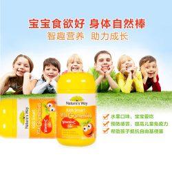 Nature's Way佳思敏儿童软糖维生素c+锌 宝宝补锌 VC60粒 – Shandong 保健,美妆和个人护理商品