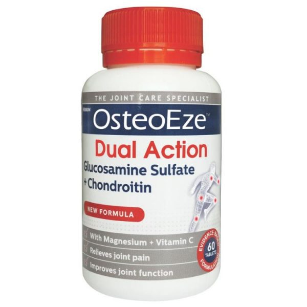 OsteoEze Dual Action Glucosamine Sulfate + Chondroitin 60 Tablets – Vitamin Australia