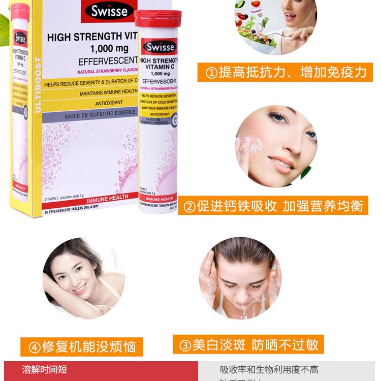 Swisse 高浓缩维C泡腾片 60粒装 – Hong Kong Health & Beauty