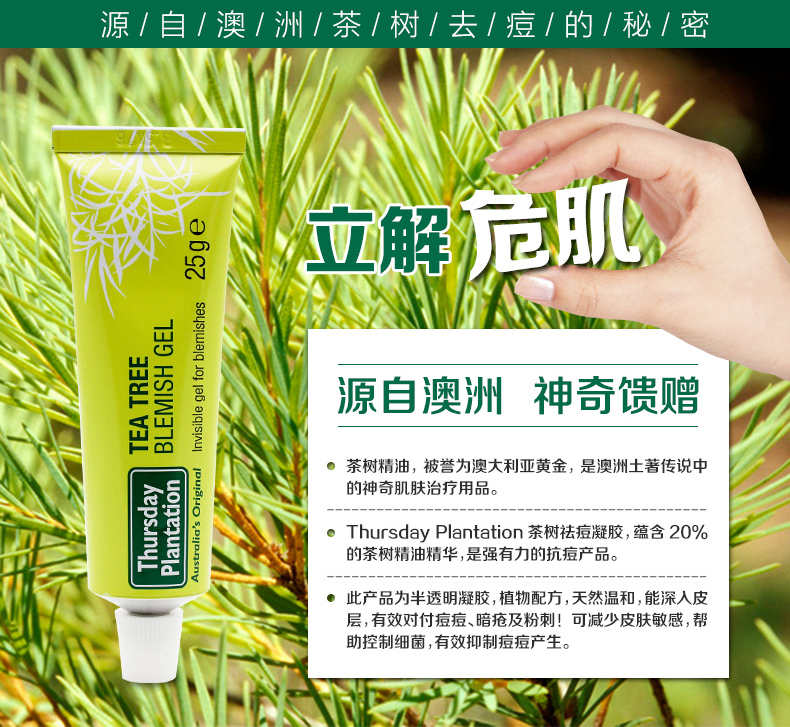 Thursday Plantation 星期四农庄茶树祛痘凝胶啫喱 25g – Guangdong Health & Beauty