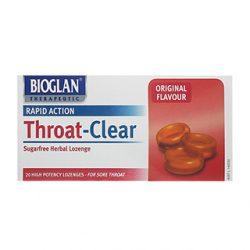 Bioglan Throat Clear – 20 Lozenges | DDS