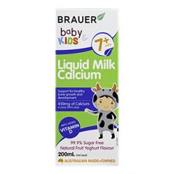 Brauer Baby & Kids Liquid Milk Calcium Fruit Yoghurt Flavour – 200mL | DDS