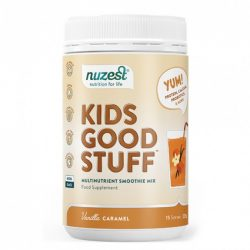 Buy Kids Good Stuff Vanilla Caramel 225 g by Nuzest