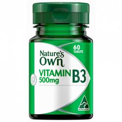 Buy Vitamin B3 500mg 60 Tablets by Nature's Own