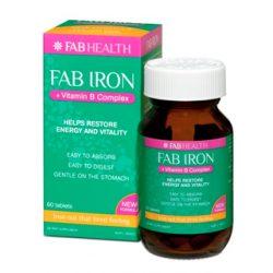 Fab Iron + B Complex – 60 Tablets