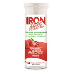 Iron Melts – 50 Chewable Tablets