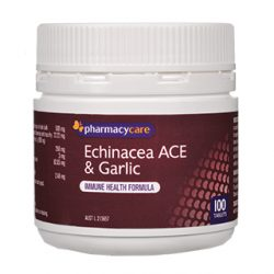 Pharmacy Care Echinacea ACE & Garlic – 100 Tablets | DDS